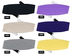 SEGAL POLY SATIN CUMMERBUND - ASSORTED COLORS