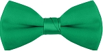 "SEGAL ""POLY-SATIN"" 2"" CLIP-ON EMERALD GREEN BOW TIE"