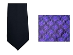 NEIL ALLYN GEOMETRIC 4-IN-HAND STRAIGHT TIE - PURPLE