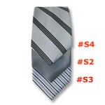 TRADITIONAL DAYTIME REPP STRIPE 4 IN HAND TIE - SELF TIE