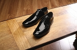 FABIAN COUTURE MONACO FORMAL LACE UP SHOES - BLACK