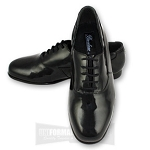 BRENTANO PATENT OXFORD FORMAL SHOES - BLACK CLOSEOUT
