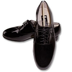 FEDERICO LEONE ROMA PATENT LEATER OXFORD FORMAL SHOES - BLACK CLOSEOUT