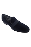 COUTURE 1910 NAVY VELVET SLIP ON FORMAL SHOES W/ SATIN BAND