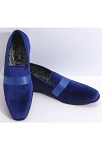 COUTURE 1910 ROYAL VELVET SLIP ON FORMAL SHOES W/ SATIN BAND