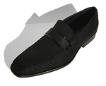 COUTURE 1910 BLACK PINDOT SLIP ON FORMAL SHOES W/ TOP BELT