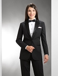 NEIL ALLYN BLACK COMFORT STRETCH NOTCH TUXEDO JACKET - WOMEN'S