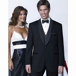 """4403"" SHAWL MEN'S BLACK TUXEDO JACKET"