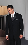 """8026C"" NOTCH MEN'S BLACK TUXEDO JACKET"