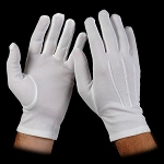 WHITE STRETCH NYLON FORMAL GLOVES (PAIR)