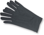 GREY HEAVYWEIGHT STRETCH NYLON GLOVES W/ SNAP WRISTS (PAIR)