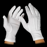 WOMEN'S WHITE NYLON GLOVES (12 PAIRS)