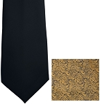 """IMPERIAL PAISLEY"" GOLD LONG TIE"