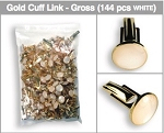 GROSS (144 PIECES) BAG OF CUFFLINKS - WHITE & GOLD TONE