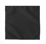 LUXURY SATIN POCKET SQUARE / HANKIE - BLACK
