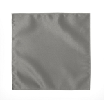 LUXURY SATIN POCKET SQUARE / HANKIE - SILVER