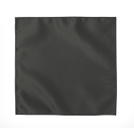 LUXURY SATIN POCKET SQUARE / HANKIE - CHARCOAL