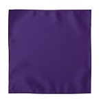 LUXURY SATIN POCKET SQUARE / HANKIE - PLUM PURPLE