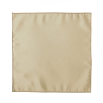 LUXURY SATIN POCKET SQUARE / HANKIE - CHAMPAGNE