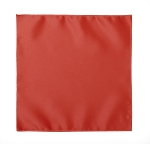 LUXURY SATIN POCKET SQUARE / HANKIE - CORAL