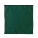 LUXURY SATIN POCKET SQUARE / HANKIE - HUNTER GREEN