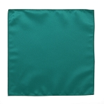 LUXURY SATIN POCKET SQUARE / HANKIE - DARK TEAL