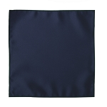 LUXURY SATIN POCKET SQUARE / HANKIE - NAVY BLUE
