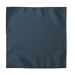VICTORIAN BLUE LUXURY SATIN POCKET SQUARE / HANKIE