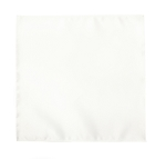 LUXURY SATIN POCKET POCKET SQUARE / HANKIE - WHITE