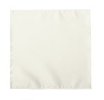 LUXURY SATIN POCKET SQUARE / HANKIE - IVORY