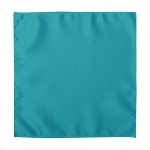 LUXURY SATIN POCKET SQUARE / HANKIE - CARIBBEAN BLUE