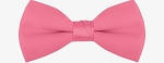 """SEGAL SATIN"" CLIP-ON  HOT CANDY PINK BOW TIE"
