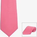 HOT PINK POLY SATIN LONG TIE