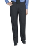 SEGAL POLYESTER WOMEN'S BLACK DRESS PANTS - LOW RISE