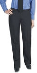 SEGAL POLYESTER WOMEN'S BLACK TUXEDO PANTS - LOW RISE