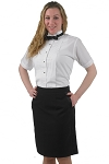 SEGAL BLACK DURAWEAR ABOVE THE KNEE TUXEDO SKIRT