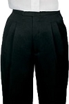 SEGAL BLACK DURAWEAR PLEATED TUXEDO PANTS - WOMEN'S
