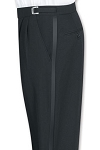 SEGAL BLACK DURAWEAR PLEATED ADJUSTABLE TUXEDO PANTS