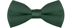 """SEGAL SATIN"" CLIP-ON  HUNTER GREEN BOW TIE"