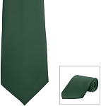 HUNTER GREEN POLY SATIN LONG TIE