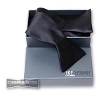 IKE BEHAR BLACK FINE SILK TIE TO TIE SELF BOW TIE