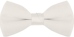 "SEGAL ""POLY-SATIN"" 2"" CLIP-ON IVORY BOW TIE"