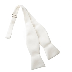 IVORY LUXURY SATIN TIE TO TIE SELF BOW TIE