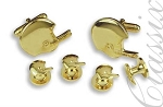 FOOTBALL HELMETS CUFFLINK & STUD SET