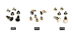 BASICS COLLECTION GOLD TONE STUD AND CUFF LINK SET - ASSORTED COLORS