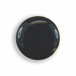 CLASSIC PLAIN BUTTON COVER W/ BLACK ENAMEL CENTER - GOLD TONE