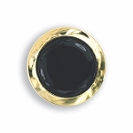 THICK RIMMED BUTTON COVER W/ BLACK ENAMEL CENTER
