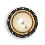 BLACK AUSTRIAN CRYSTAL SURROUND BUTTON COVER W/ IVORY PEARL STONE CENTER