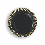 FANCY BEZELED BUTTON COVER W/ BLACK STONE CENTER