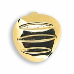 GOLD TONE TRIANGLE BUTTON COVER W/ OBLONG INSETS